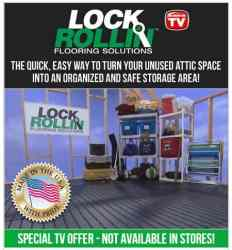 Lock & Rollin Flooring |DIY Attic Flooring Solution