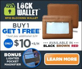 Lock Wallet Portable RFID Protective Shield S…