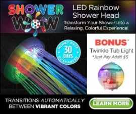 Shower Wow Led Rainbow Replacement Showerhead