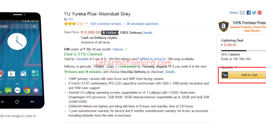 Buy YU Yureka Plus without registration, Buy YU YUreka plus at cheap rates, YU Yureka Plus Buy Online