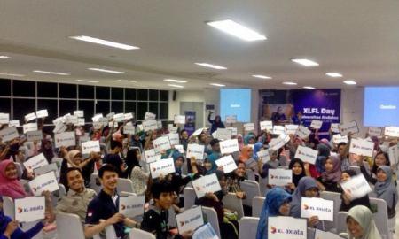 Kemeriahan Mini Roadshow XL Future Leader Day di Universitas Andalas