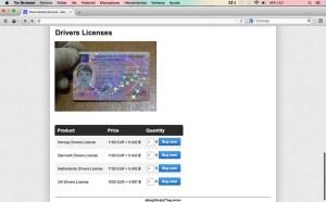 Aparente venta de licencias de conducir de países de la Unión Europea, a través de sitio .onion