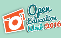 Open Education Week 2016 Logo - Blue BG