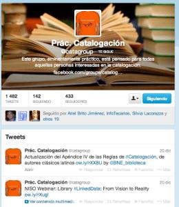 Twitter Prácticas de Catalogación