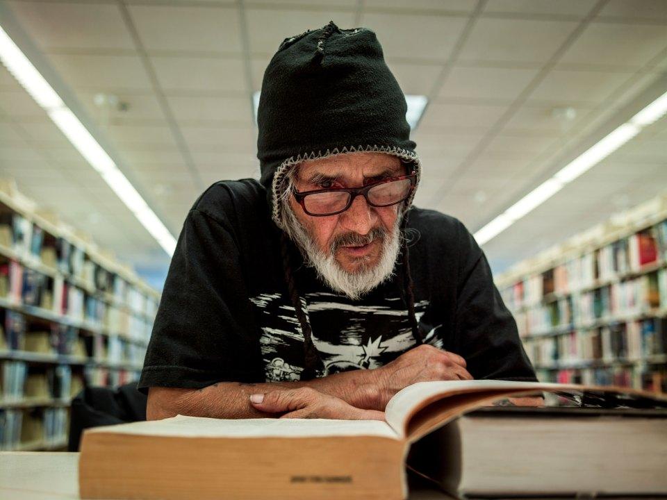 library homeless