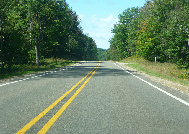 The Open Road - M-55 heading west to Manistee, Michigan. -creed_400 on Flickr
