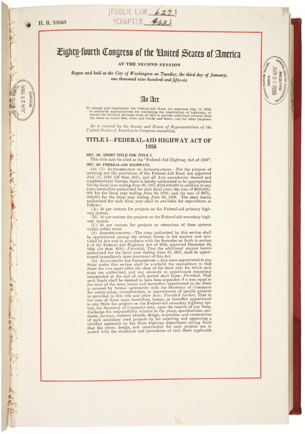 National Interstate and Defense Highways Act