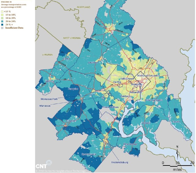 Housing + Transportation Affordability in Washington DC