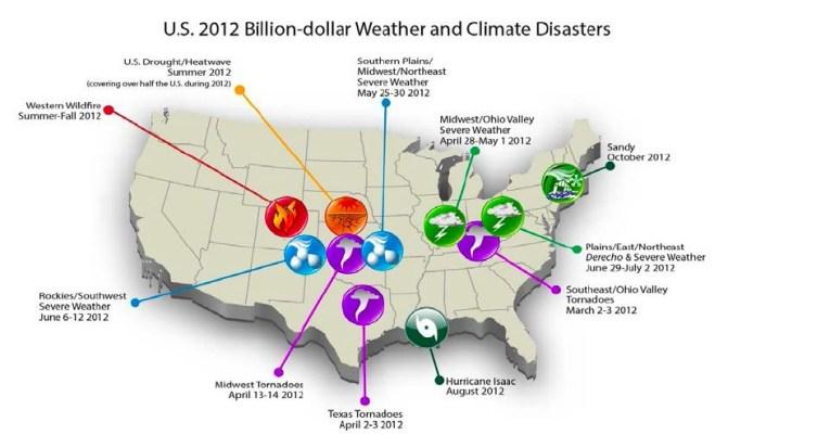 U.S. 2012 Billion-Dollar Weather Disasters