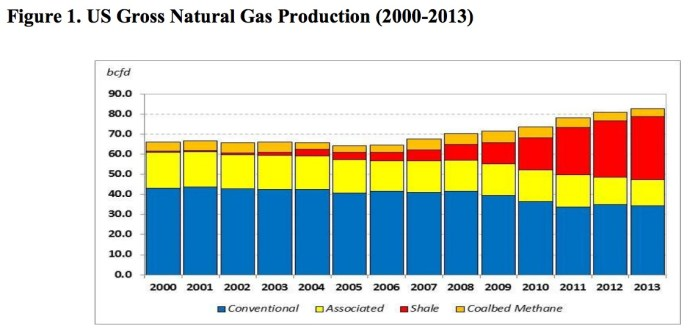 Figure 1: U.S. Gross Natural Gas Production (2000-2013)