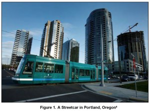 Figure 1: A Streetcar in Portland, Oregon