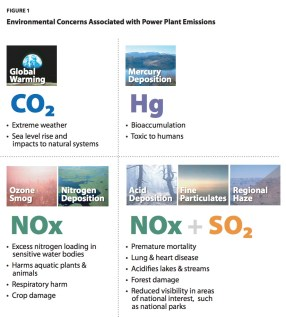 FIGURE 1 Environmental Concerns Associated with Power Plant Emissions