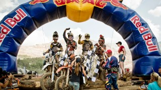 Alfredo Gomez,Jonny Walker, Graham Jarvis and Andreas Lettenbichler win the Red Bull Hare Scramble at Erzberg in Eisenerz, Austria on June 7th 2015.