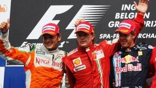 RAIKKONEN-SPA-GP-BELGIO-PODIO-F1-2009