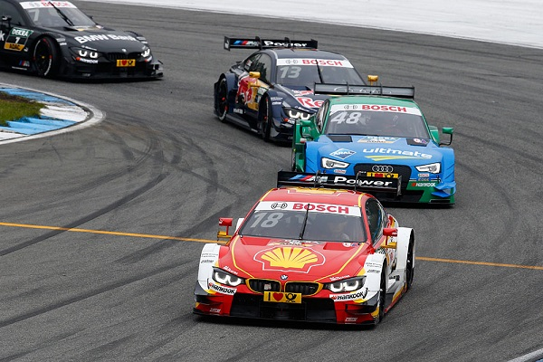 #18 Augusto Farfus, BMW M4 DTM, #48 Edoardo Mortara, Audi RS5 DTM, #13 António Félix da Costa, BMW M4 DTM
