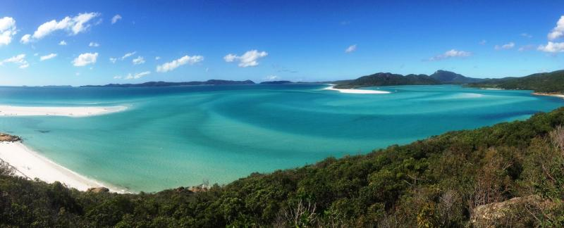 Whitsunday islands, australien, strand, turkis, hav, vand, østkysten