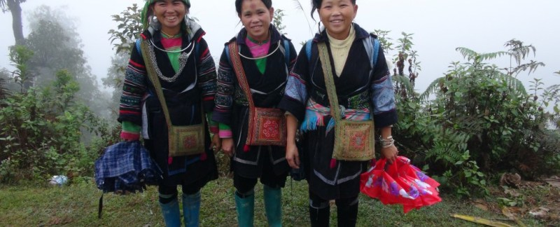H'mong stammen, sapa, trekking, homestay, vandring