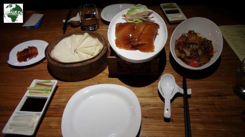 Til slut, Peking and til aftensmad