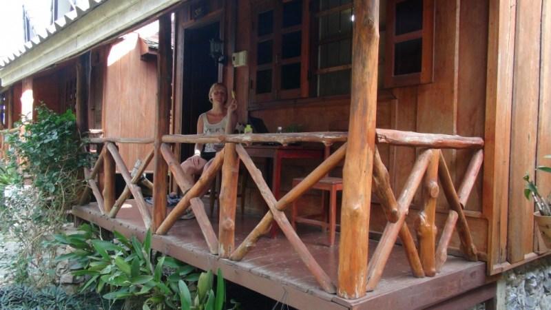 Vores hjem for de næste dage. Tilmed med gratis te og bananer.