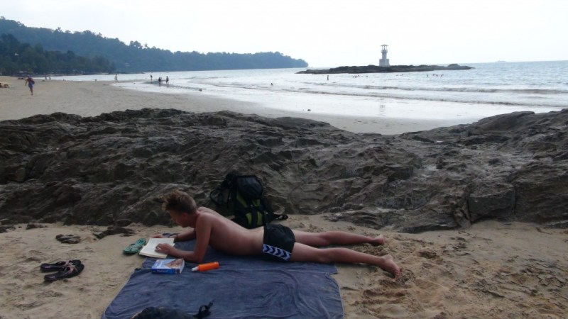Stranden i Khao lak, thailand