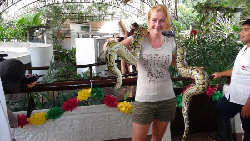 Bangkok, røde kors slange farm