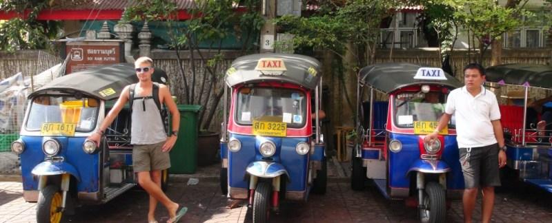 Tuk tuk, Bangkok, Khao san road