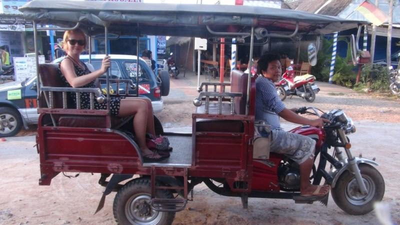 Tuk tuk i Sihanoukville, Cambodia