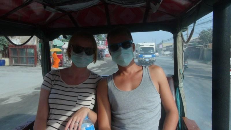 Støv og tuk tuk i Cambodia