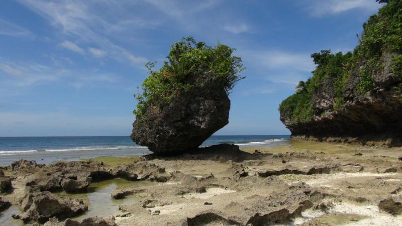 filippinerne, solskin, backpacking, strand, higatangan island, tyfon