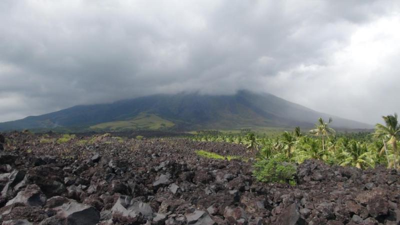 filippinerne, strand, palmer, backpacking, mount mayon