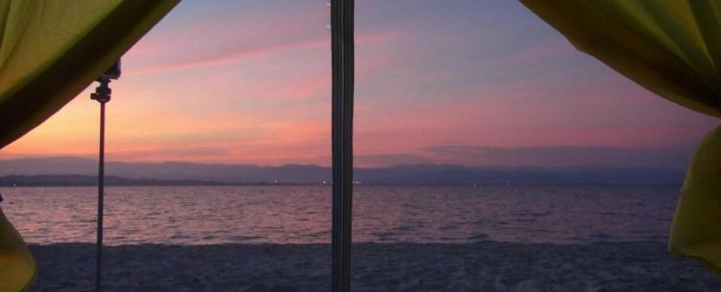 Mamutik, telt, borneo, malaysia, solnedgang, sunset