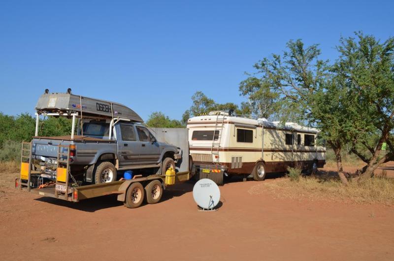 Dette er et typisk australsk set-up... Der mangler intet!
