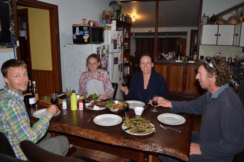 Jude, Ian og den yngste datter Courtney.