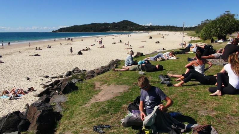 Stranden i Byron bay