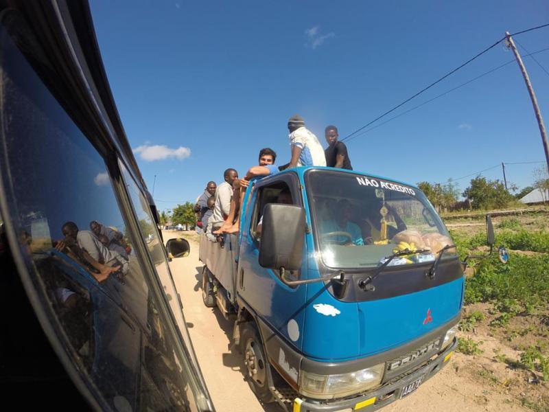 En åben chapa bus