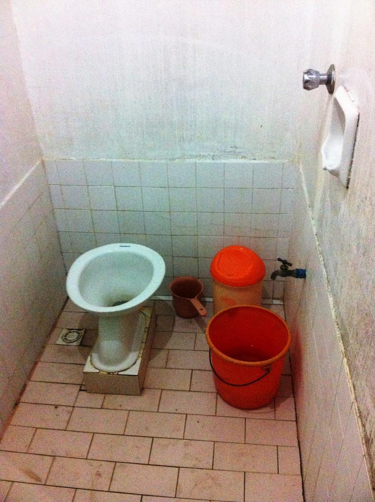 ... og vores meget simple toilet.
