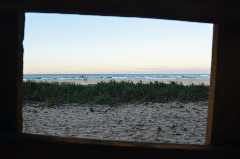 Udsigten fra vores lille hjem på stranden