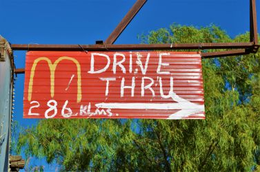 Australien, outback, mcd, sign, mcdonalds