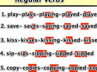 regular verb1