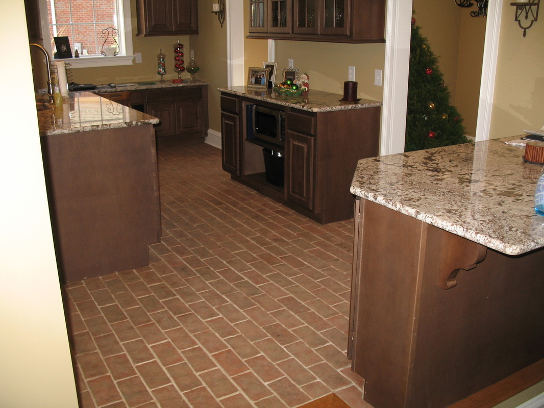 kitchens kitchen tile floor Boltinhouse Kitchen Wright s Ferry brick tile