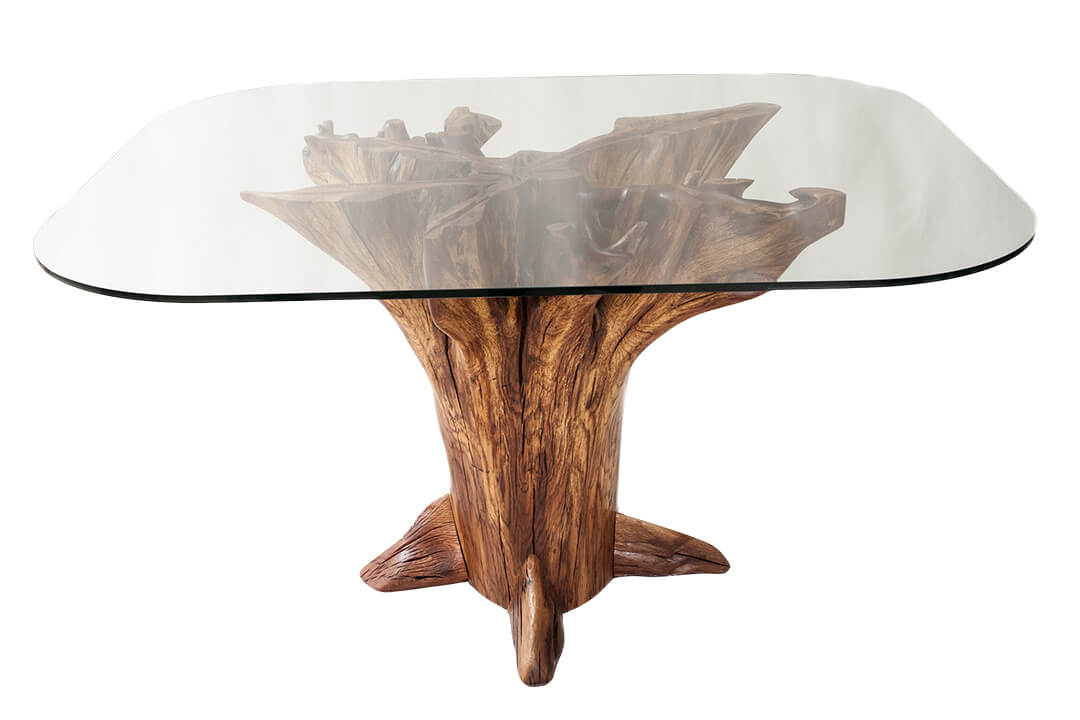 Wood stump furniture wood stump coffee tables for sale for Tree trunk dining table