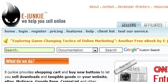 crear tiendas on line ejunkie