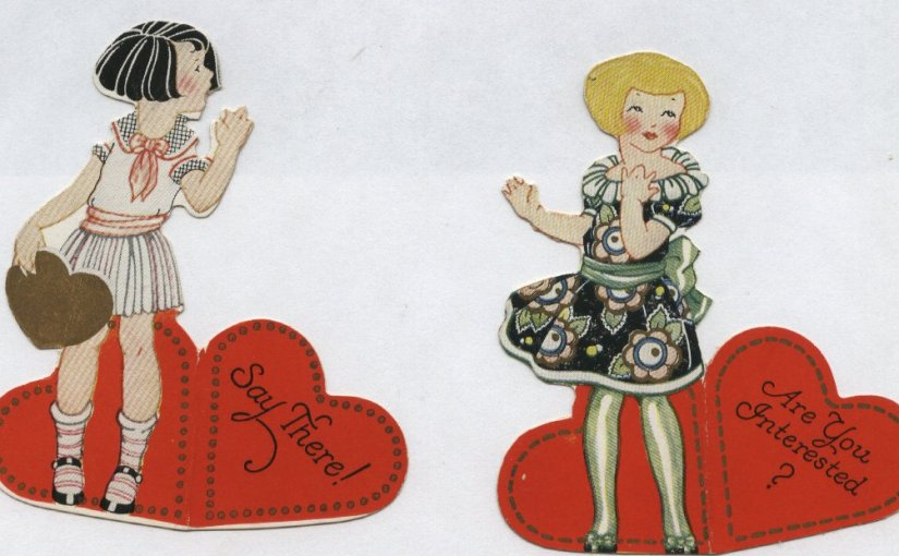 vintage valentines fronts