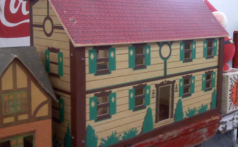 vintage cardboard dollhouse