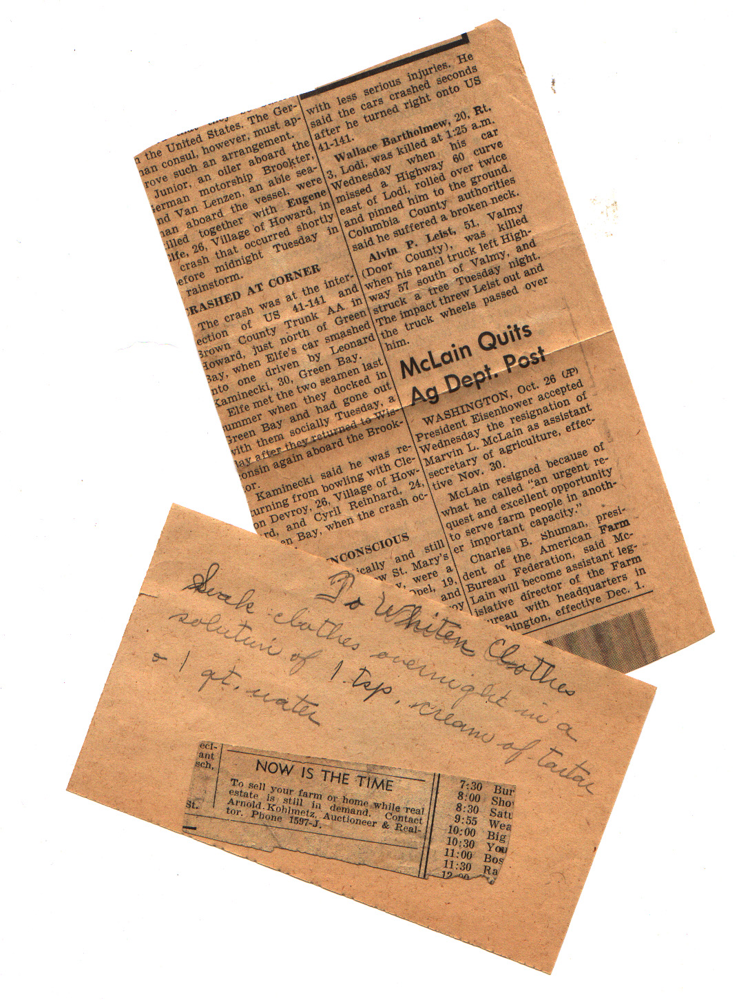 Dating Old Newspaper Clippings (And Some Telephone Number History ...