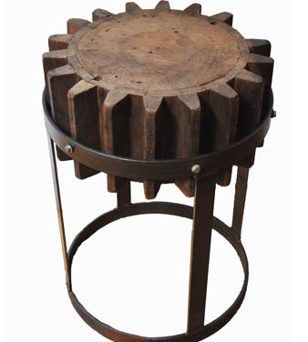 water mill gear end table