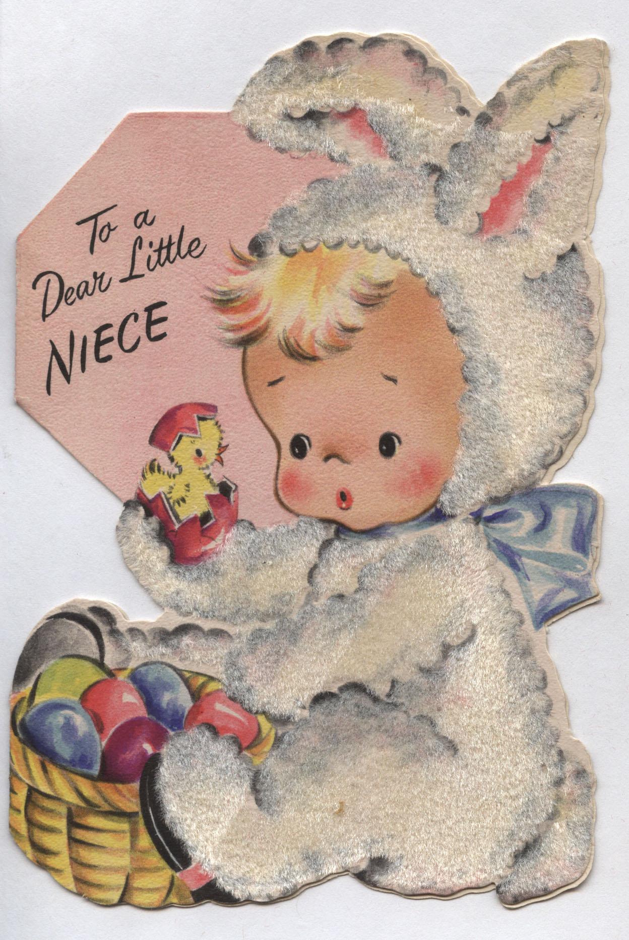 Vintage Flocked Hallmark Easter Card Inherited Values – Hallmark Easter Cards