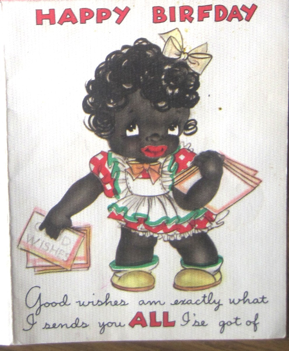 Racist Greeting Card Collecting Inherited Values