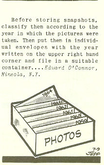 Vintage Tip For Organizing Photographs & Ephemera