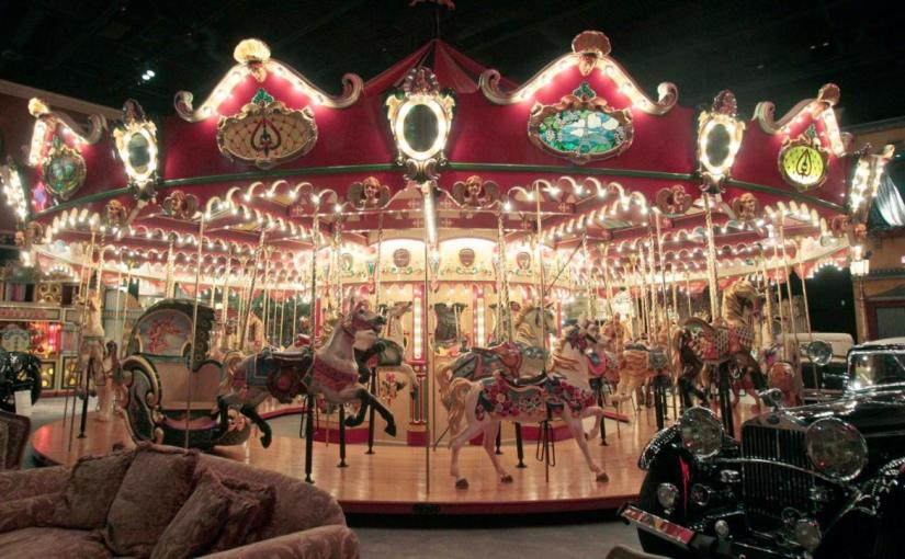 custom-built Milhous carousel with 42 hand-carved animals